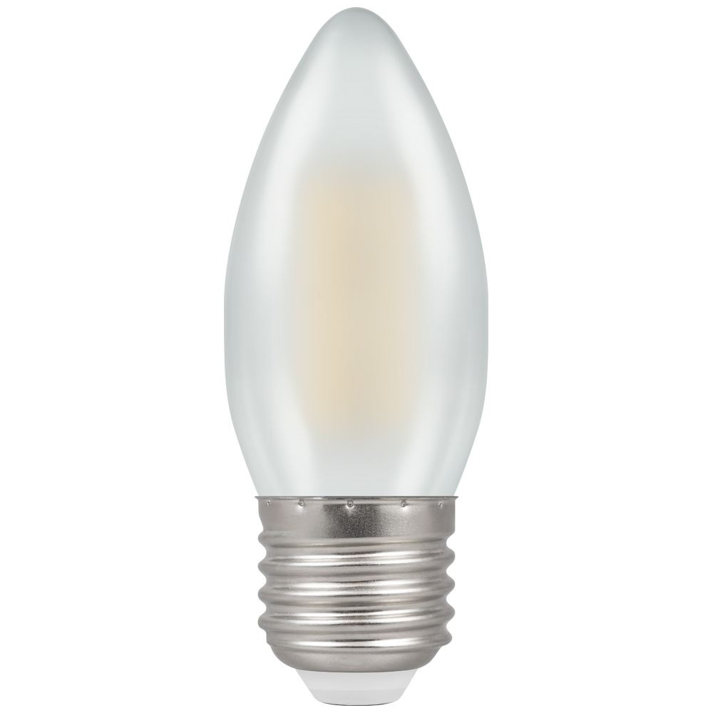 Crompton 4W (40W) LED Candle Filament Pearl ES E27 - Dimmable