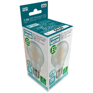 LED GLS light bulb filament pearl ES box