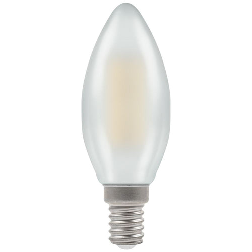 Crompton 4W (40W) LED Candle Filament Pearl SES E14 - Dimmable