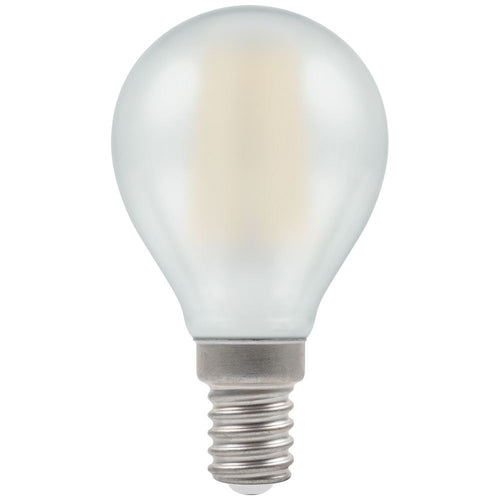 LED golf ball light bulb filament pearl SES