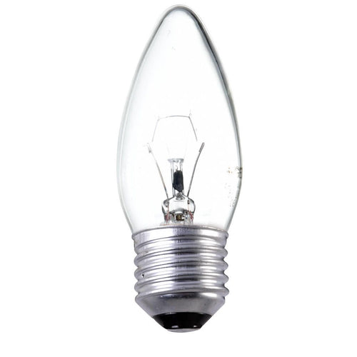 Traditional Incandescent 25w Candle Light Bulb E27 ES