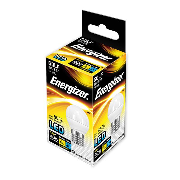 Energizer 6W (40W) LED Golf ES E27 Bulb