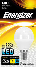 Load image into Gallery viewer, Energizer 6W (40W) LED Golf SES E14 Bulb