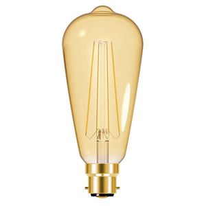 Energizer 5W (40W) LED Tear Drop Filament Antique ST64 BC B22 - Warm White
