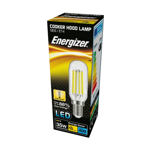 Energizer LED Filament Cooker Hood Light Bulb SES Screw 4 watt = 35 watt