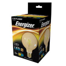 Load image into Gallery viewer, Energizer 5W (40W) LED Globe G125 Filament ES E27 - Amber