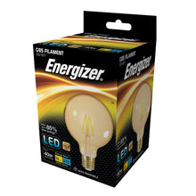 Load image into Gallery viewer, Energizer 5W (40W) LED Globe G95 Filament ES E27 - Amber