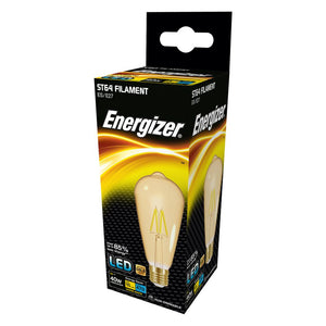Energizer 5W (40W) LED Tear Drop Filament Antique ST64 ES E27 - Warm White