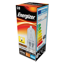 Load image into Gallery viewer, Energizer 33w (40W) G9 Capsule Light Bulb Eco Halogen