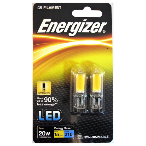 2 Pack Energizer LED G9 Warm White