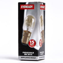 Load image into Gallery viewer, Eveready 15W SBC B15 Fridge/Freezer Light Bulb