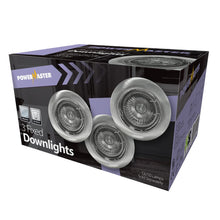 Load image into Gallery viewer, Powermaster Brushed Chrome Downlight GU10 3 Pack