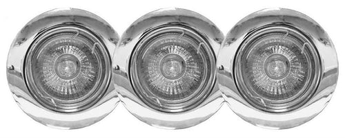 Powermaster Polished Chrome Downlight GU10 3 Pack