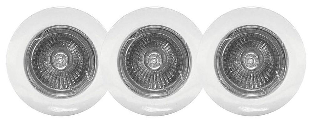 Powermaster White Downlight GU10 3 Pack