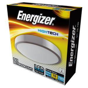Energizer 10w LED Round Bathroom Light Flush IP44 - Cool White