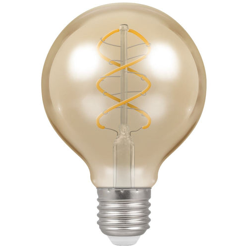 crompton g80 led filament spiral ES antique gold