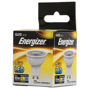 Energizer LED GU10 5 Watt 50 Watt Equivalent white plastic daylight