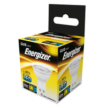 Load image into Gallery viewer, Energizer LED GU10 5 Watt 50 Watt Equivalent white plastic warm