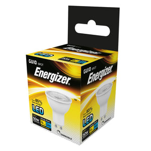Energizer dimmable LED GU10 5 Watt 50 Watt Equivalent white plastic warm