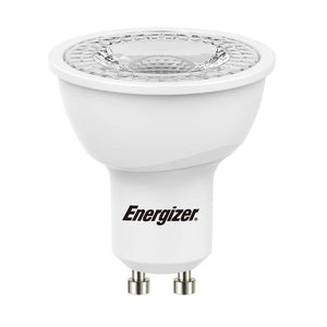 Energizer dimmable LED GU10 5 Watt 50 Watt Equivalent white plastic
