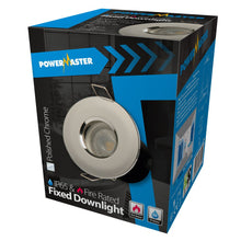 Load image into Gallery viewer, Powermaster IP65 Polished Chrome Fire Rated Fixed Downlight GU10