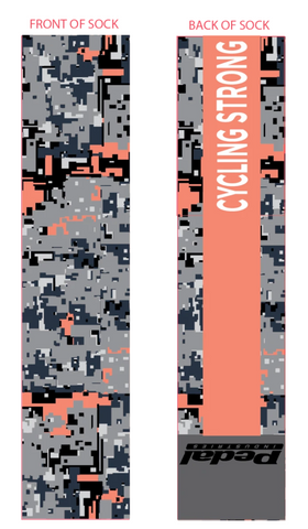 Cycling Strong Sublimated Socks