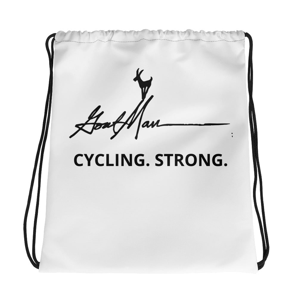 Cycling Strong Drawstring Bag