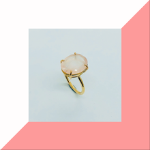 Load image into Gallery viewer, Rose cut Rose Quartz ring