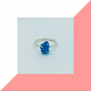 Neon Blue Apatite Ring