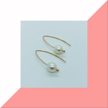 Load image into Gallery viewer, 9ct Yellow Gold and Pearl Drop Earrings