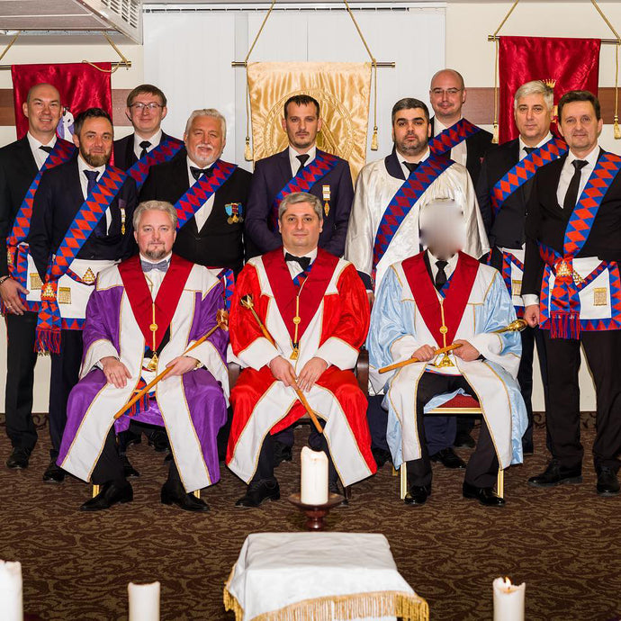 "The meeting of the English Chapter of the Royal Arch ""Holy Caecilia"" in Moscow"