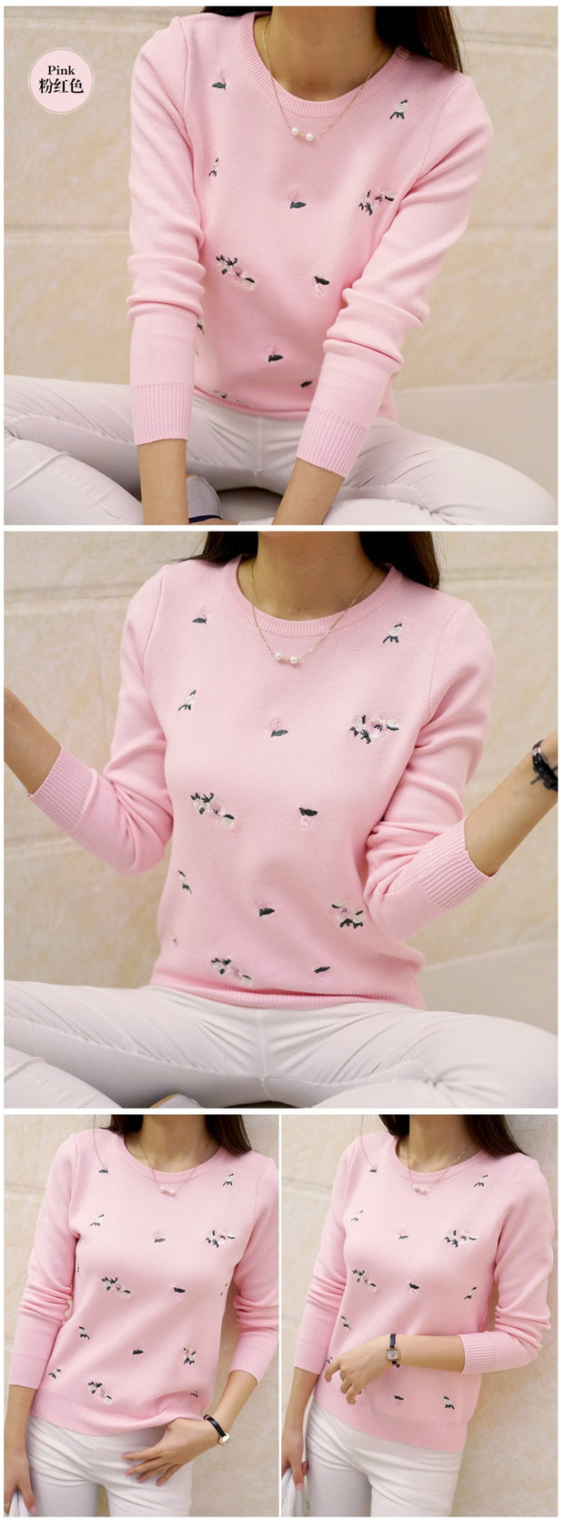 4ae13f3b8c OHCLOTHING 2018 Autumn Sweater Women Embroidery Knitted Winter Women Sweater  And Pullover Female Tricot Jersey Jumper