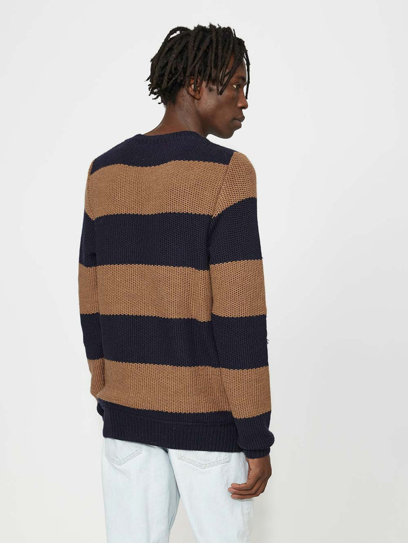 Lou Dalton Tuck Stich Stripped Crewneck - Archive Clothing