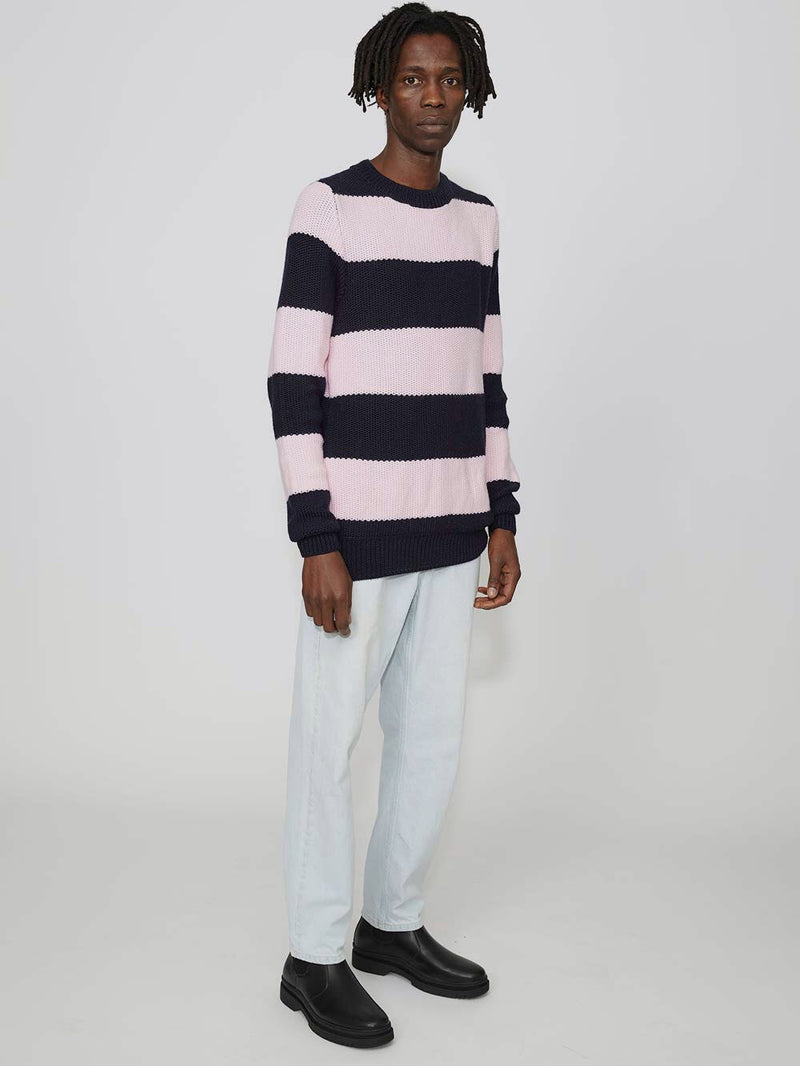 Lou Dalton Tuck Stich Striped Crewneck - Archive Clothing