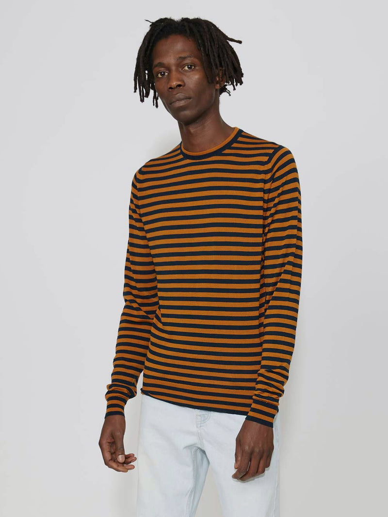 Lou Dalton x John Smedley Stripped Crew Sweater - Archive Clothing