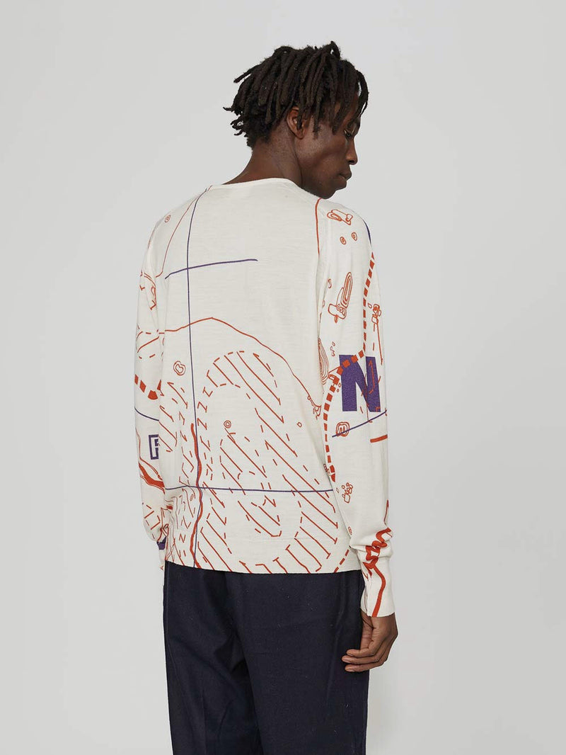 Lou Dalton x John Smedley Map Sweater - Archive Clothing
