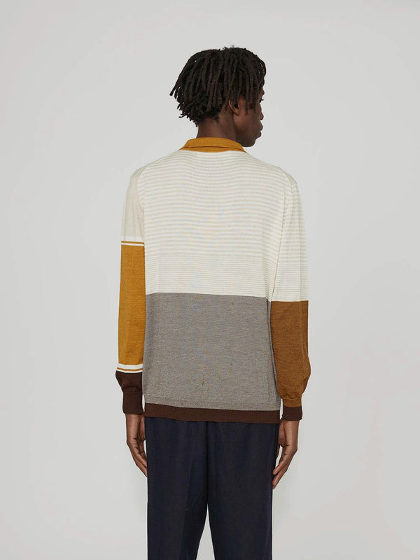 Martine Rose Fine Knit Polo Biege - Archive Clothing