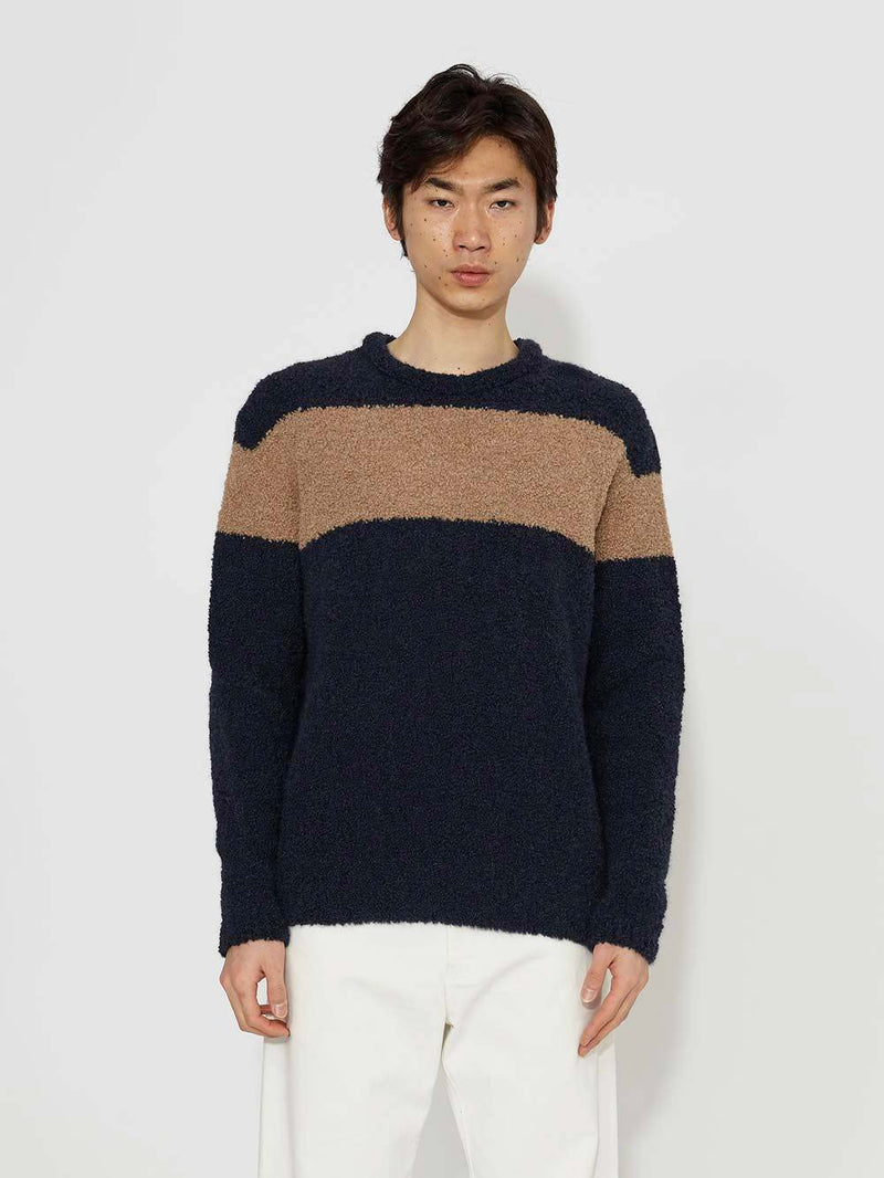 Lou Dalton x John Smedley Chest Striped Sweater - Archive Clothing