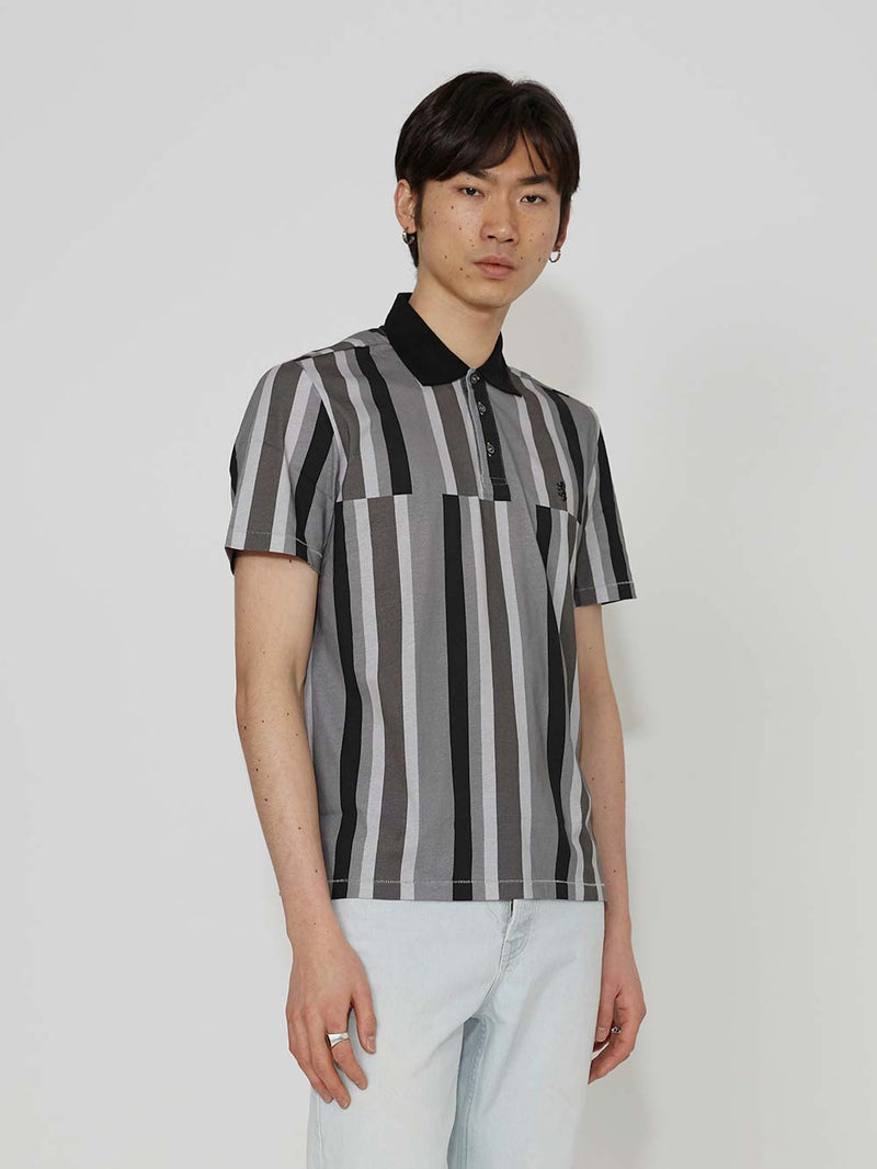 Pringle Of Scotland Stripe Polo Shirt - Archive Clothing