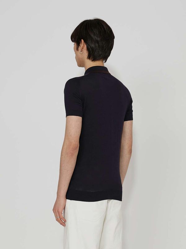 Lou Dalton x John Smedley Double Collar Polo - Archive Clothing
