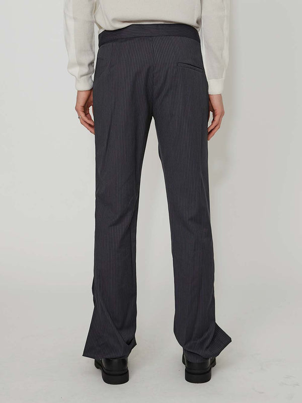 Daniel W Fletcher Split Hem Tailored Trousers - Archive Clothing