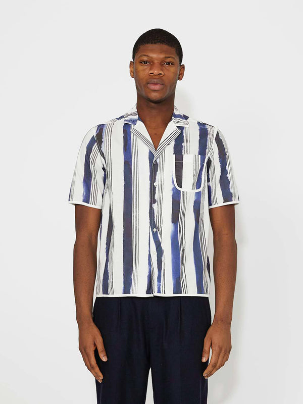 Daniel W Fletcher Bold Stripe PJ Shirt - Archive Clothing
