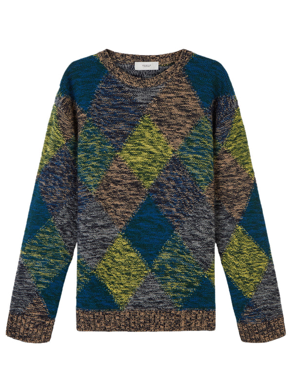 Pringle Of Scotland Multi Coloured Argyle Sweater - Archive Clothing