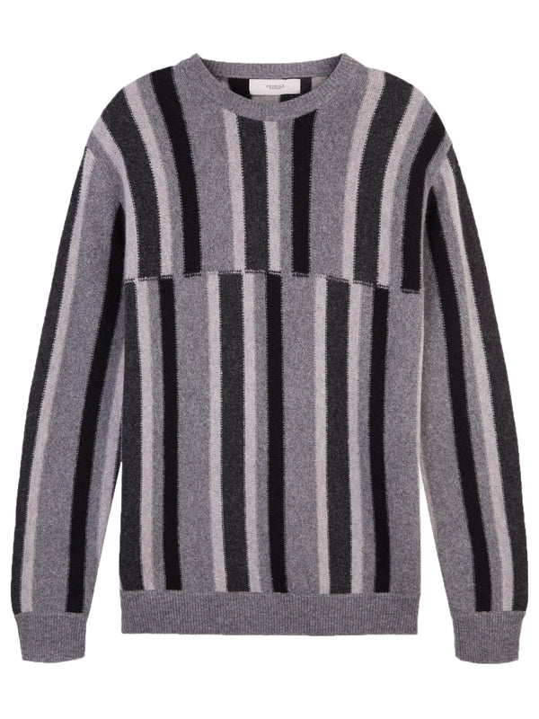 Pringle Of Scotland Striped Deconstructed Sweater - Archive Clothing