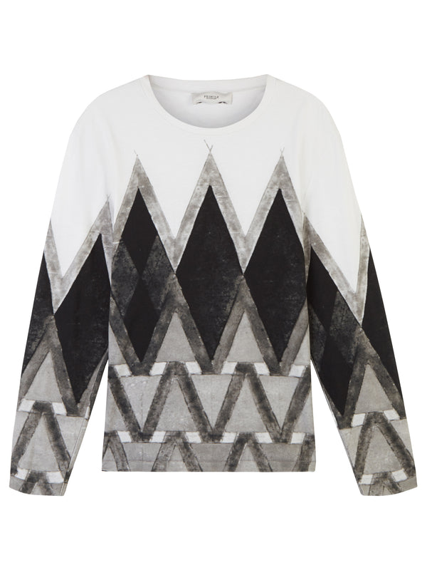 Pringle Of Scotland Long Sleeve Diamond Tee - Archive Clothing