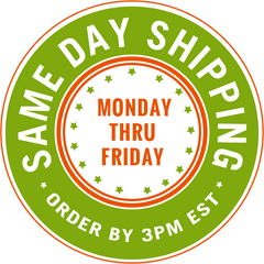 Same Day Shipping Monday-Friday for all Orders Placed before 3 pm