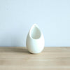 Wholesale - Small Ivory Ceramic Vase with Red Abdita and Spanish Moss
