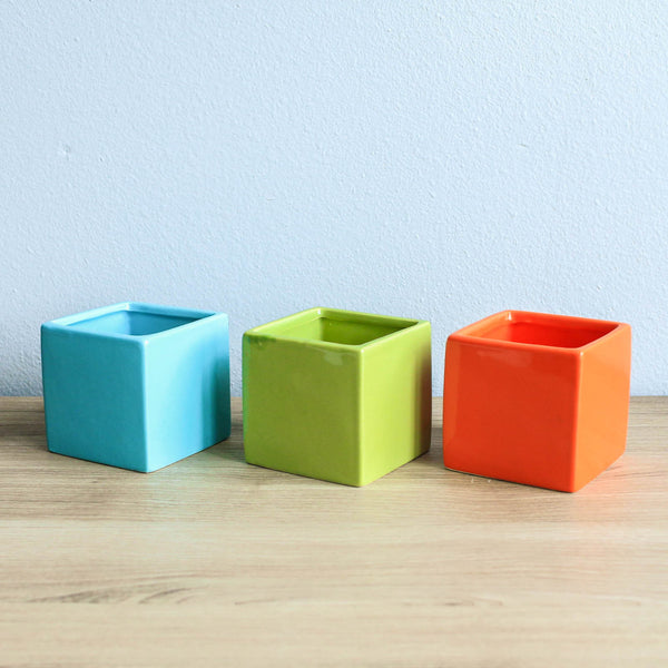 Wholesale - Ceramic Cube Container - Choose Your Color