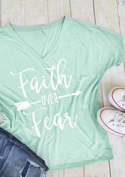Faith Over Fear Arrow T-Shirt