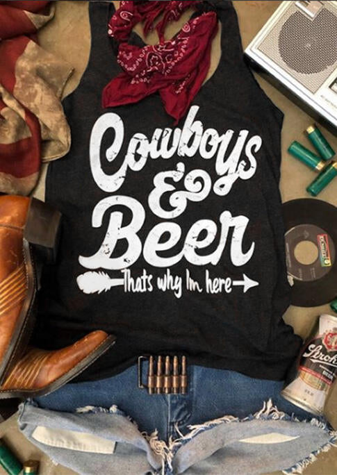 Cowboys & Beer Arrow Tank - Black